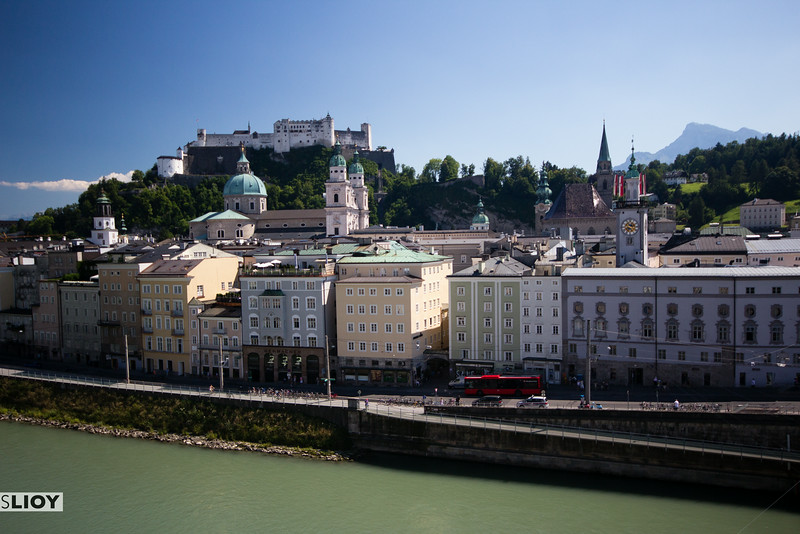 salzburg castle and old town