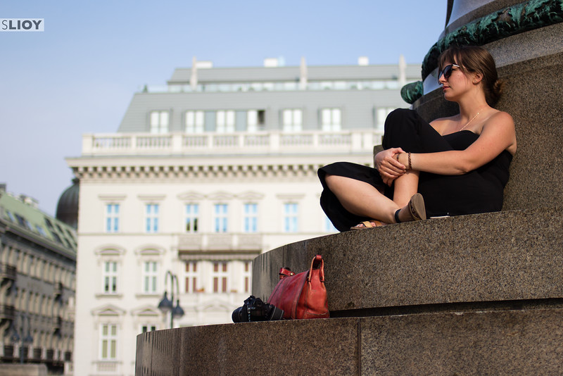 Terrace outside the Albertina Museum in Vienna.
