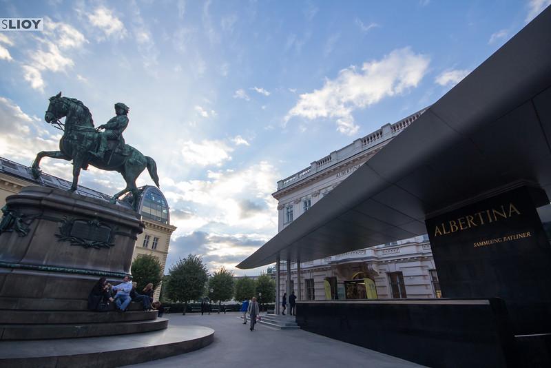 Terrace of the Albertina Museum in Vienna.