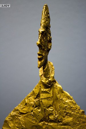 Giacometti's 'Narrow Bust On Base (called Amenophis)' at the Albertina Museum in Vienna.