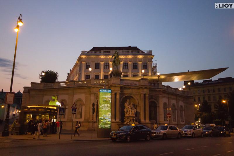 Vienna's Albertina Museum at Night.