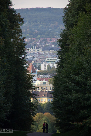 Vienna view from schonbrunn glorietta