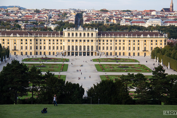 schonbronn palace view of vienna