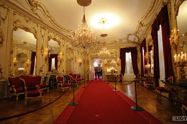 interior of schonbrunn palace