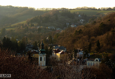 sunset over klosterneuburg