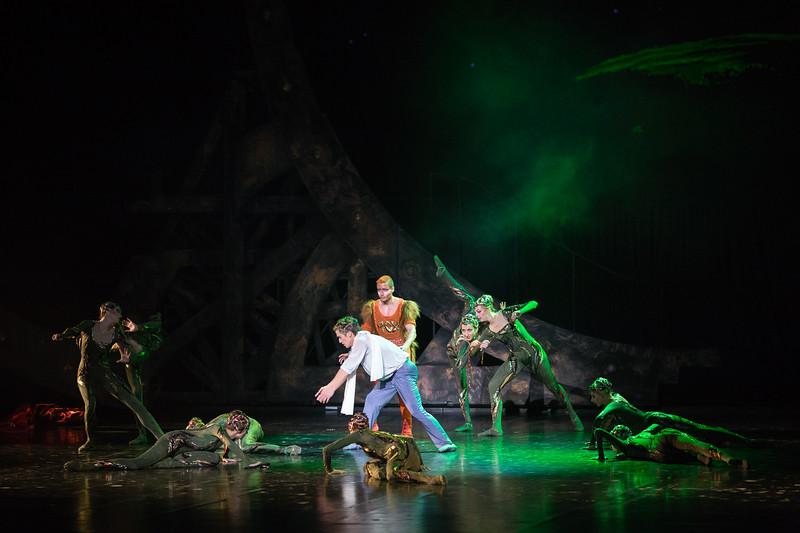 Performance of Le Petit Prince in the National Academic Bolshoi Opera and Ballet Theatre in Minsk, Belarus.