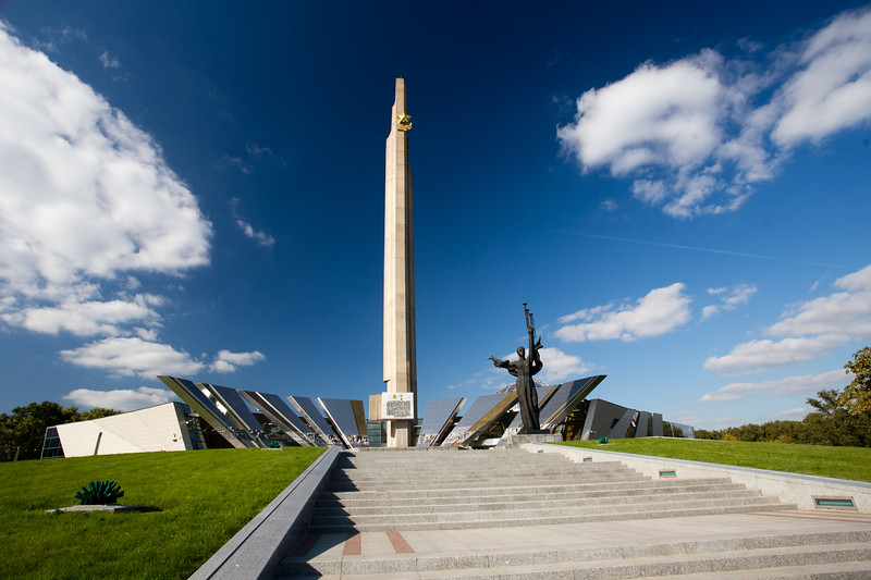 Exterior of the Belarusian State Museum of the History of the Great Patriotic War in Minsk.