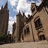 Historic architecture of Bruges, Belgium.