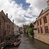 View of the canals in Bruges, Belgium.