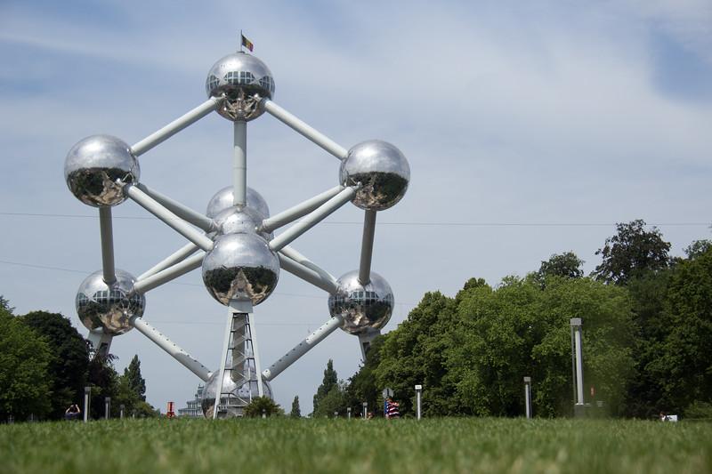 Atomium monument in Brussels, Belgium.