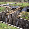 Reconstructed trenches at the Passchendaele Memorial Museum in Ypres, Belgium.