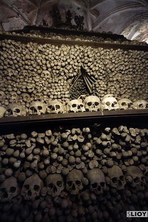 Inside the bone church in Kutna Hora.