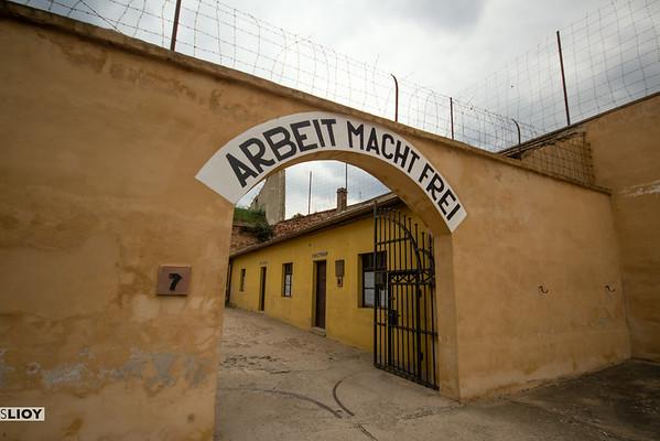 terezin concentration camp sign
