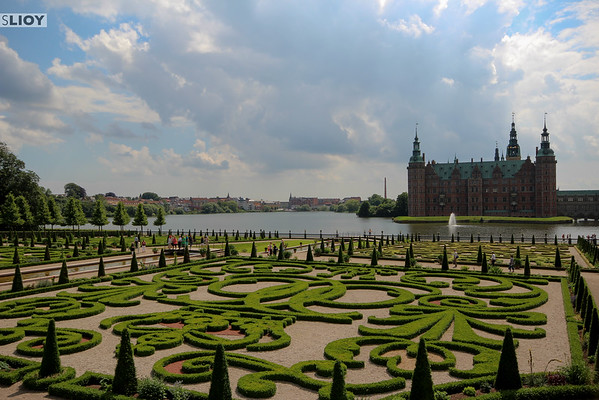 The Gardens of Hillerod's Fredriksborg Palace.