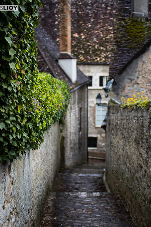 small alley of provins, france