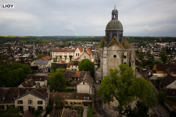 exterior of st quirice chapel and provins skyline