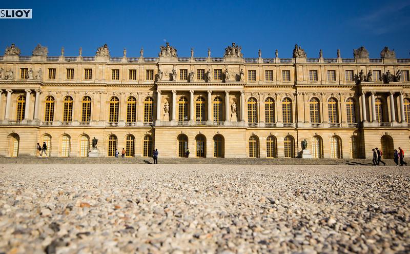 versailles palace back view