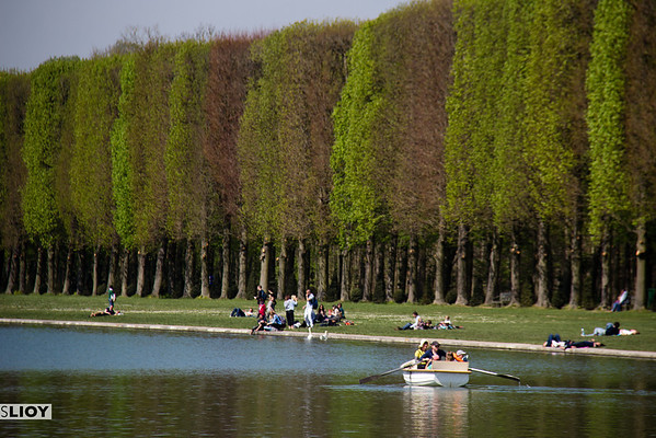boat on versailles grand canal