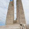 The Canadian World War I Memorial in Vimy Ridge, France.