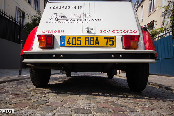 citroen 2CV license plate