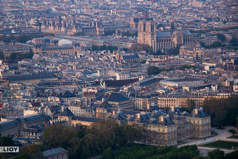 skyline of paris from montparnasse tower