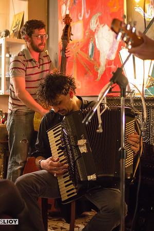 Live music at the Eva Pritsky bar in the Menil Montant neighborhood of Paris.