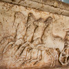 Relief Carving at a Greek Temple in Athens