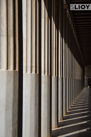 Columns in a Greek Temple in Athens