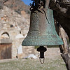 Bell and chapel of the ruined town of Lissos on the Crete E4 Trail in Greece.