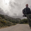 Hiking on the roads of Crete along the European E4 Trail in Greece.