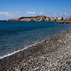Pebble beach at Paleochora in the beginning of the Crete E4 Trail in Greece.