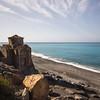 A small waterfront chapel on the Crete E4 Trail in Greece near Agia Roumeli.