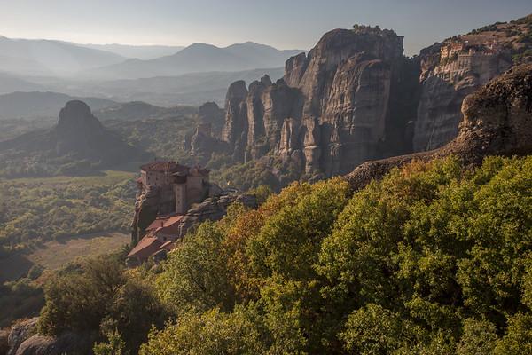 Clifftop monasteries of Meteora, Greece.