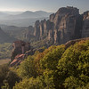 Clifftop monasteries of Meteora, Greece.