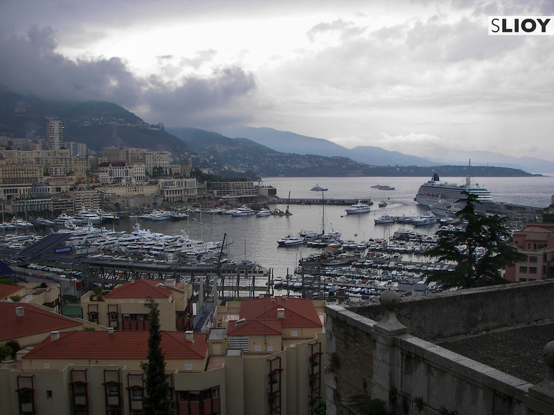 Viewpoint over Monte Carlo Harbour in Monaco.