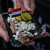 Dutch herring in Amsterdam's Nieuwmarkt