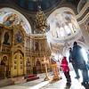 Interior of Aleksandra Nevskovo Church in Novosibirsk, Russia.