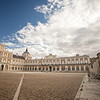 Royal entrance of the palace in Aranjuez, Spain.