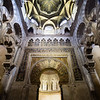 Interior arches of the Mosque-Cathedral of Cordoba in Spain.