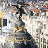 View from the terrace of the Circulo de Bellas Artes in Madrid, Spain.
