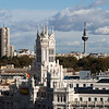 Cityscape from the terrace of the Circulo de Bellas Artes in Madrid, Spain.