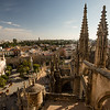 Gothic architecture of the Catedral de Sevilla in Seville, Spain.