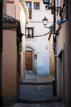 Medieval streets of the town of Toledo, Spain.