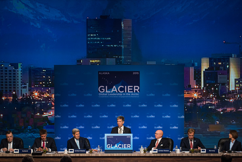 August 31, 2015: Anchorage Mayor Ethan Berkowitz addresses attendees during the opening plenary of the Global Leadership in the Arctic Cooperation, Innovation, Engagement & Resilience conference.