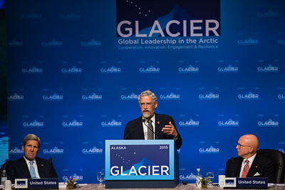 August 31, 2015: Dr. John Holdren, Assistant to the President for Science and Technology, addresses the opening plenary of the Global Leadership in the Arctic Cooperation, Innovation, Engagement & Resilience conference.