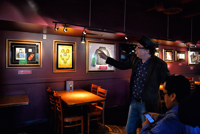 June 25, 2014: Hard Rock Cafe Anchorage Memorabilia Tour. Hard Rock International Music & Memorabilia Historian Jeff Nolan gives a tour of the new Hard Rock Cafe Anchorage's vast collection of memorabilia.