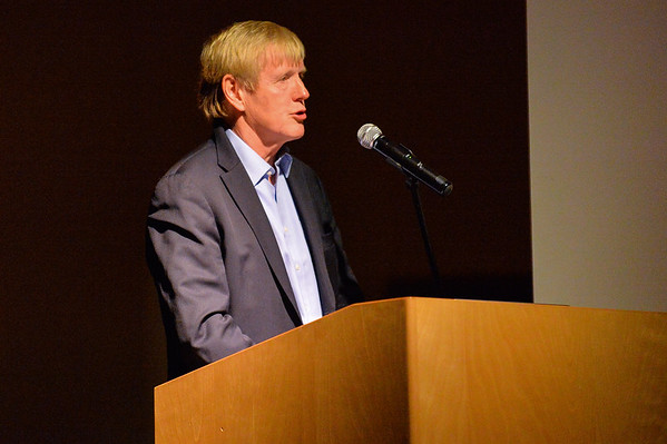 September 1, 2015: Norwegian Ambassador to the United States Kare R. Aas addresses attendees at the Picture of the Arctic event at the Anchorage Museum.