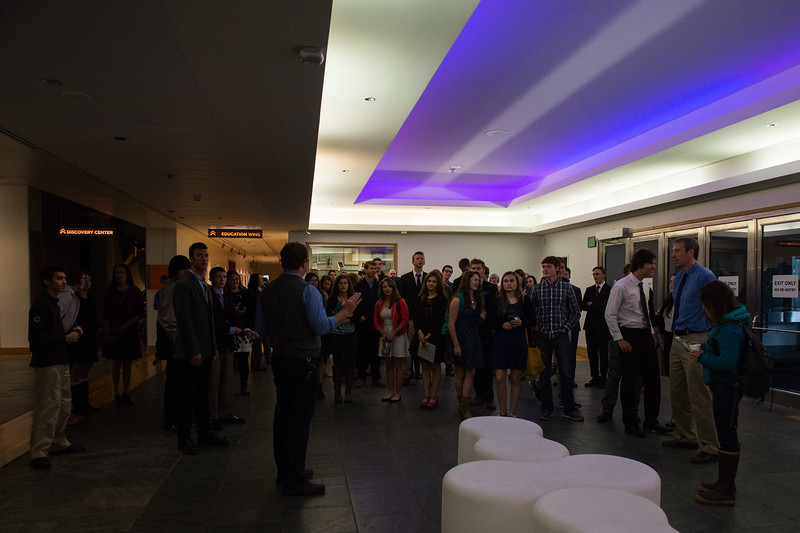 September 1, 2015: Attendees gather at the Anchorage Museum for the Picture of the Arctic event.