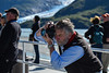 September 1, 2015: Dr. Tad Pfeffer takes a photograph of a glacier during the glacier cruise in Portage during the afternoon workshop.