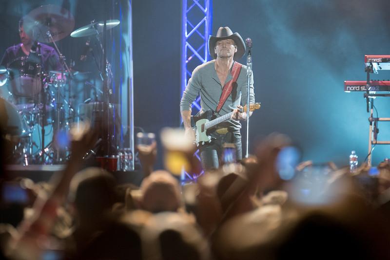 October 28, 2014: Tim McGraw Sundown Heaven Town concert at Alaska Airlines Center in Anchorage, AK.